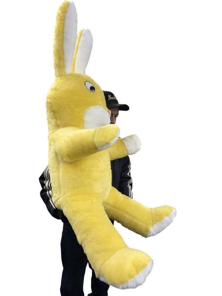 American Made Giant Stuffed Yellow Bunny 60 Inch Soft Big Plush Rabbit 5 Foot Rabbit Made in USA
