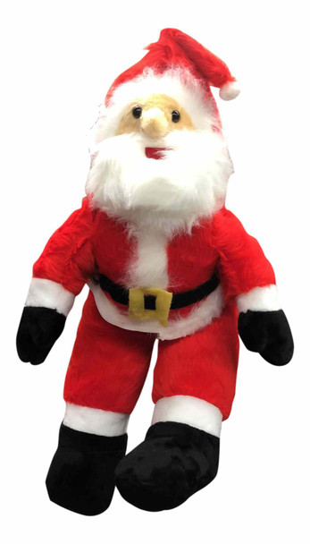American Made Giant Stuffed Sitting Santa Claus 4 Feet Tall Soft  Large Christmas Plush 48 Inches, Legs Bend so He can Sit Down