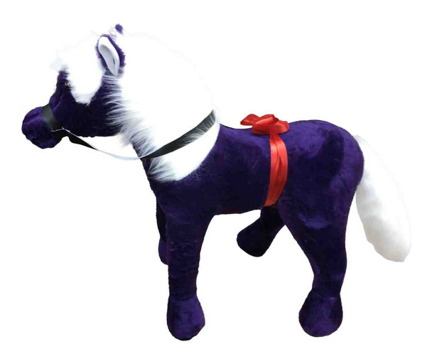 American Made Giant Stuffed Horse 3-feet tall 3-feet wide Dark Purple color MADE IN USA
