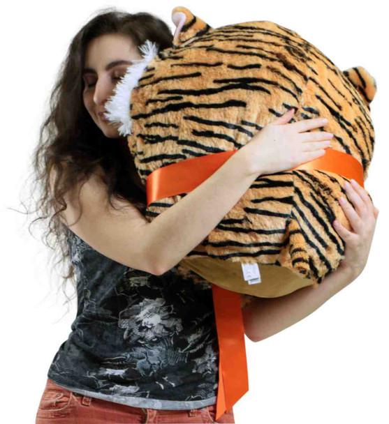 Big Plush Tiger Smush Ball Soft 24 Inches Soft Stuffed Animal Plushie