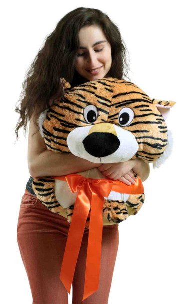 Big Plush Tiger Smush Ball Soft 24 Inches Soft Stuffed Animal Plushie