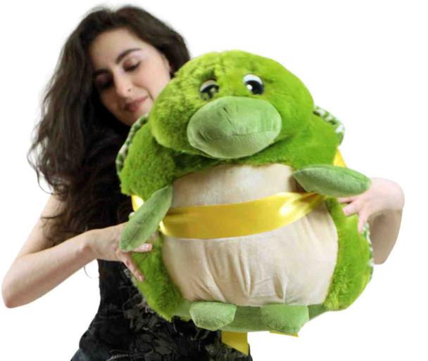Big Plush Turtle Smush Ball Soft 24 Inches Soft Stuffed Animal Plushie