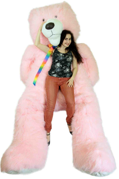 Insanely Large American Made Giant Pink Teddy Bear Soft 108 Inches which equals 275 cm