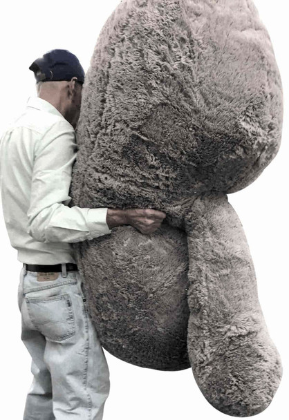 From every angle, this enormous 7-foot stuffed sloth is among the biggest stuffed sloths you will ever find.