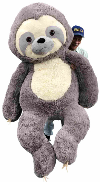 This 7 foot stuffed sloth is soft and huge.