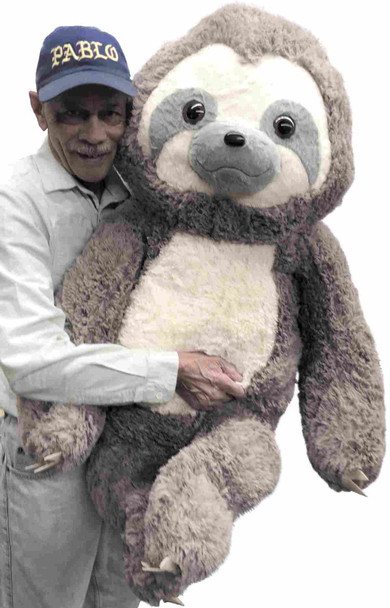 46 inches tall giant stuffed sloth from Big Plush