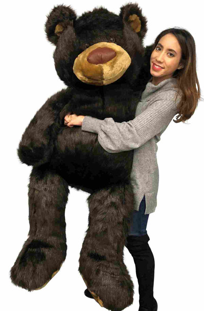 Big Plush huge brown teddy bear measures 5 feet tall and is made in the USA