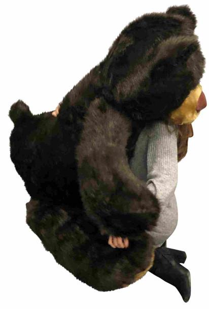 Big Plush American Made Giant 5ft Teddy Bear 5 Feet Tall 60 Inches 152 cm Dark Brown Color Soft Big Teddybear 5 Foot Bear Made in the USA