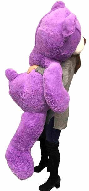 Big Plush 5 Foot Giant Purple Teddy Bear 60 Inches 152 cm Huge Soft Stuffed Animal Made in USA