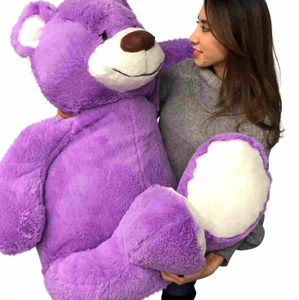 Big Plush 5 Foot Giant Purple Teddy Bear 60 Inches 152 cm Huge Soft Stuffed Animal Made in USA