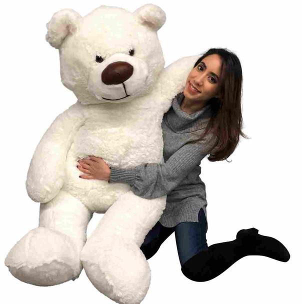Big Plush 5 feet tall white giant teddy bear made in the USA