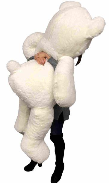 Big Plush American Made Giant White Teddy Bear 5 Feet Tall 60 Inches 152 cm Soft Big Stuffed Animal Made in the USA