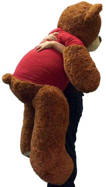 Big Plush® 5 Foot Giant Teddy Bear 60 Inches Soft Wears Tshirt I Socially Distantly Love You
