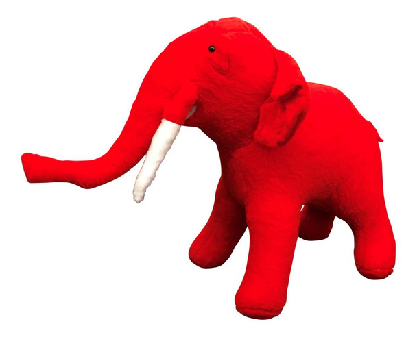 Big Plush® American Made Giant Stuffed Red Elephant 48 Inch Huge Stuffed Animal