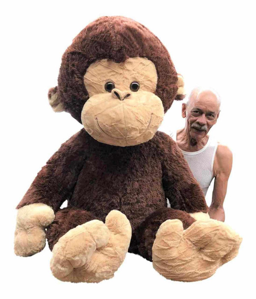 Giant stuffed monkey is 48 inches tall