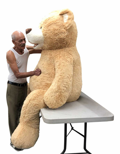 Big Plush® 7 Foot giant teddy bear is stuffed in the USA with pillow-soft stuffing. Makes a great gift. 8