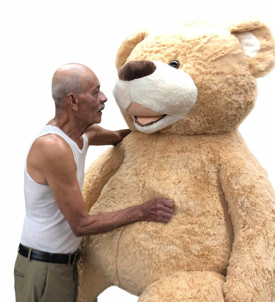 Big Plush® 7 Foot giant teddy bear is stuffed in the USA with pillow-soft stuffing. Makes a great gift. 3