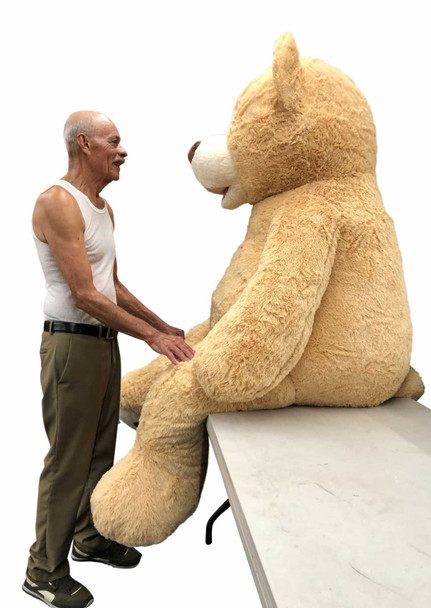 Big Plush® 7 Foot giant teddy bear is stuffed in the USA with pillow-soft stuffing. Makes a great gift. 9