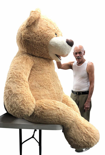Big Plush® 7 Foot giant teddy bear is stuffed in the USA with pillow-soft stuffing. Makes a great gift. 2