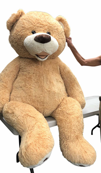 Big Plush® 7 Foot giant teddy bear is stuffed in the USA with pillow-soft stuffing. Makes a great gift. 5