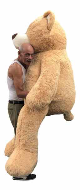 Big Plush® 7 Foot giant teddy bear is stuffed in the USA with pillow-soft stuffing. Makes a great gift. 10