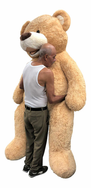 Big Plush® 7 Foot giant teddy bear is stuffed in the USA with pillow-soft stuffing. Makes a great gift. 7
