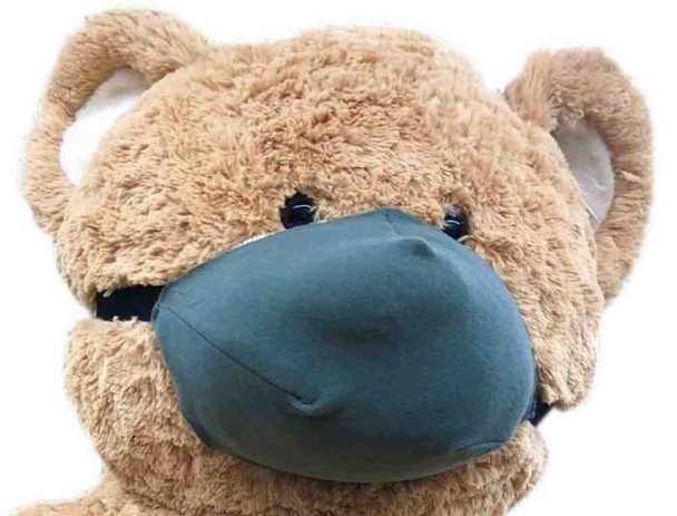 Add a Custom Made Face Mask to Any Big Plush Animal - We will Attach the Face Mask to YOUR Animal's Head Before we Ship - The Mask can be Removed without Damaging the Stuffed Animal