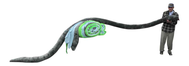 American Made Giant Stuffed Snake 18 Feet Long Soft Gray Big Plush Serpent