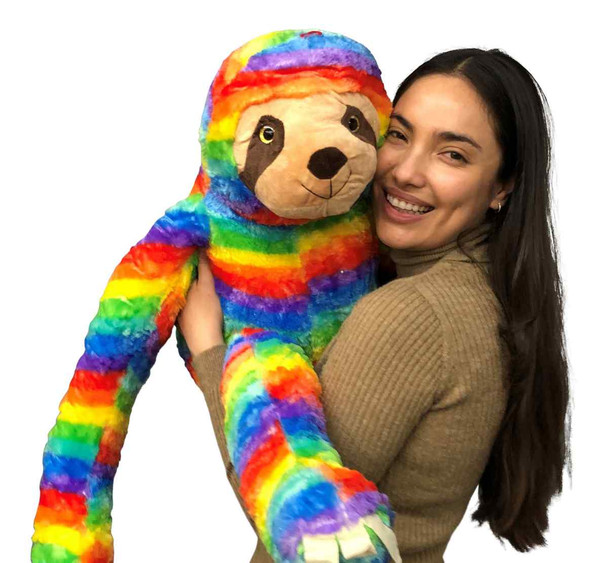 Big Plush Rainbow Color Sloth Soft Stuffed Animal