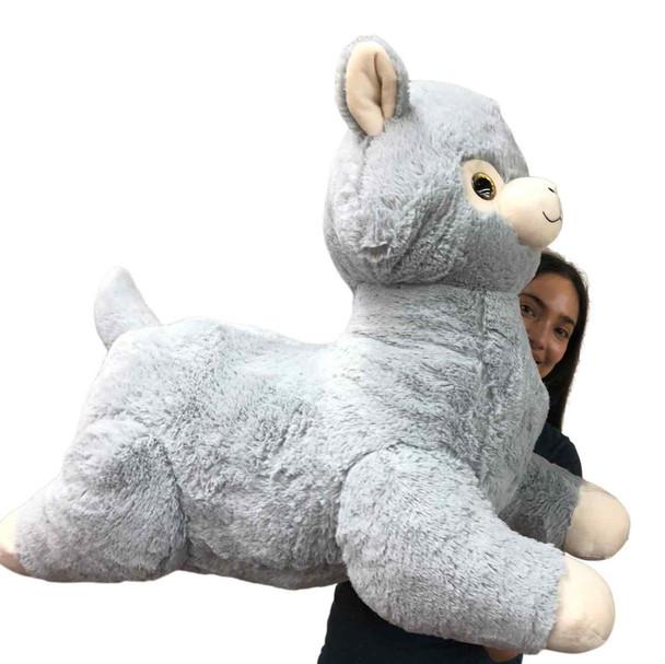 Huge stuffed gray llama large stuffed animal