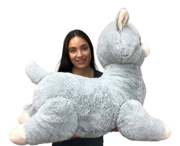 Giant Stuffed Llama 3 Feet Long 36 Inches 91 cm Soft Luxurious Big Plush Alpaca South American Camelid