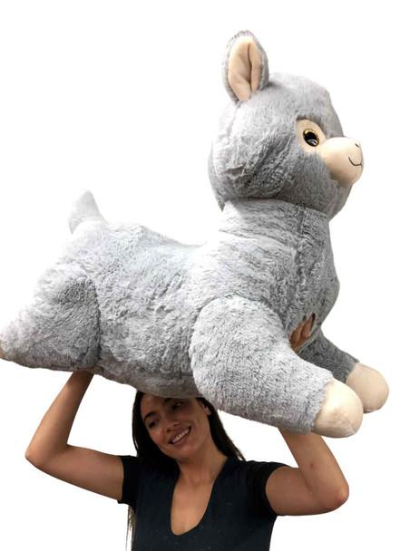 Huge stuffed Llama 3 feet long soft plush Alpaca animal