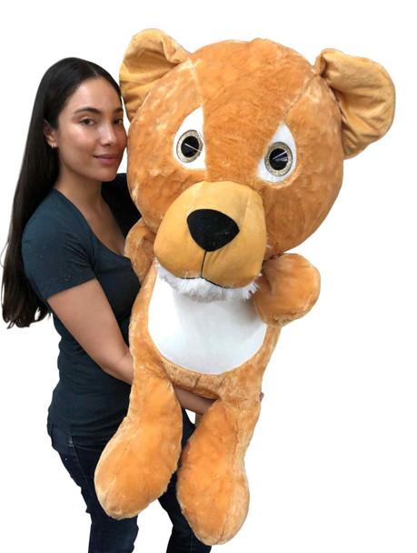 Big life size stuffed lion cub