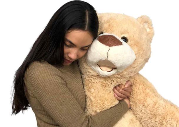 Giant 4 Foot Teddy Bear 48 Inches 122 cm Soft  Big Plush Huge Stuffed Animal Beige Color