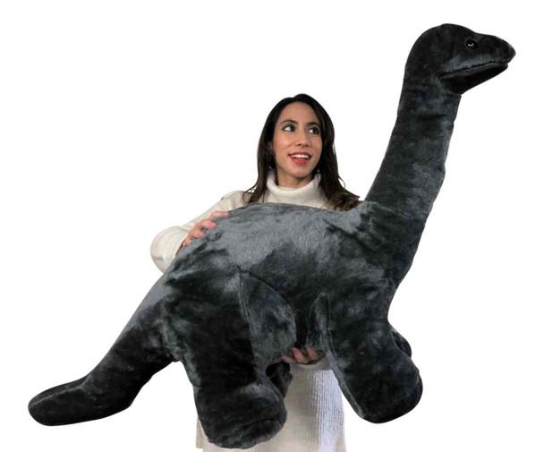 Big Plush Gray Stuffed Dinosaur