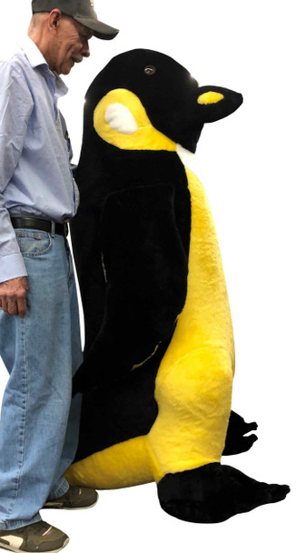 American Made Giant 5 Foot Stuffed Yellow Bellied Penguin Huge Soft Oversized Plush Animal