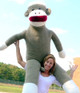 Big Stuffed Sock Monkeys