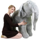 Gray Color Big Stuffed Animals