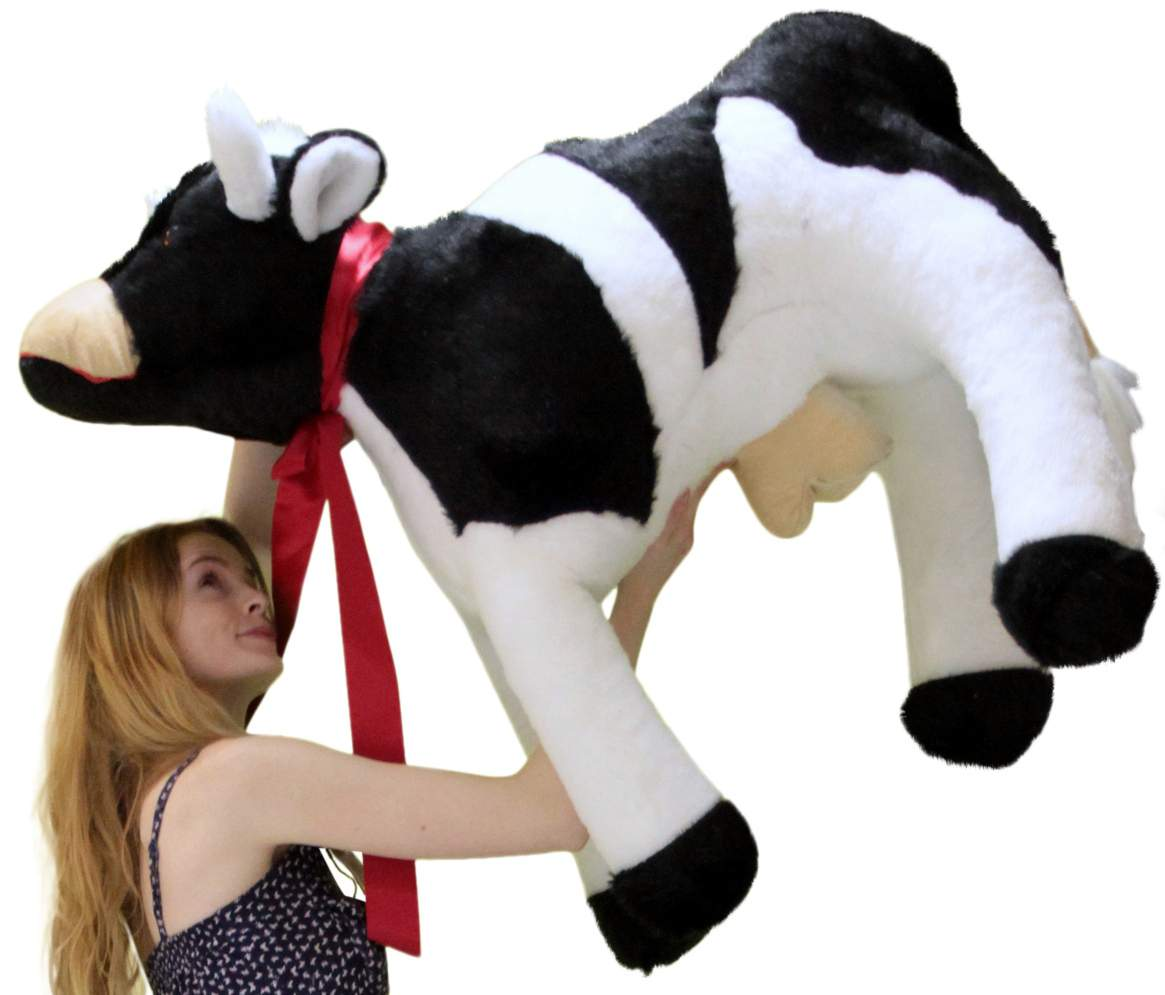 American Made Giant Stuffed Cow 42 Inch Big Plush Farm Animal Soft
