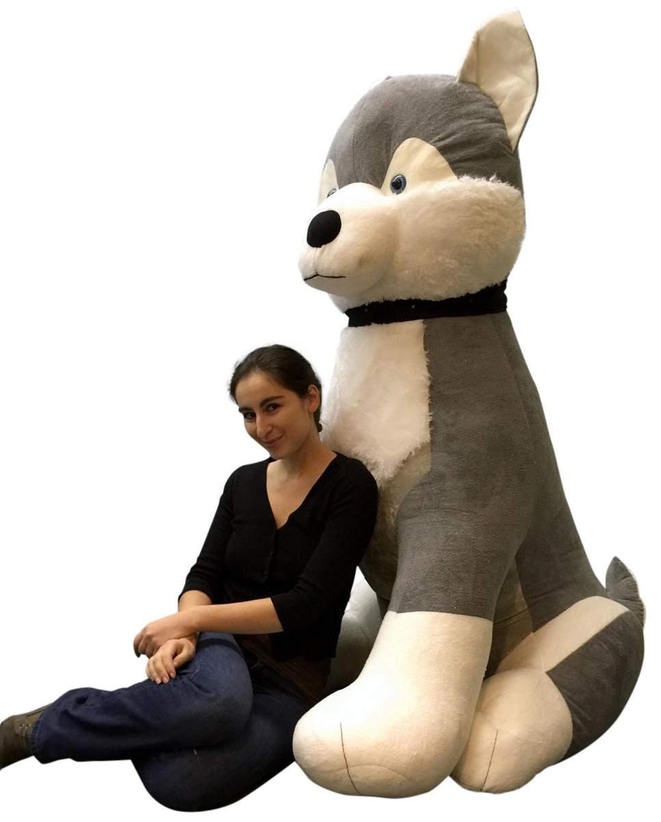 Giant Stuffed Husky 5 Feet Tall Soft 60 Inches Huge Big Plush Plush