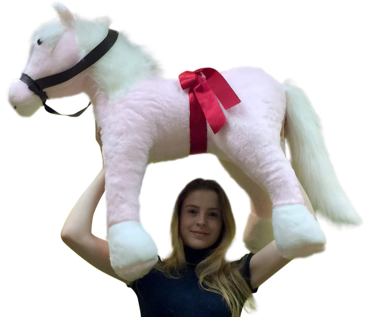 American Made Giant Stuffed Pink Pony 3 Feet Tall 3 Feet Wide