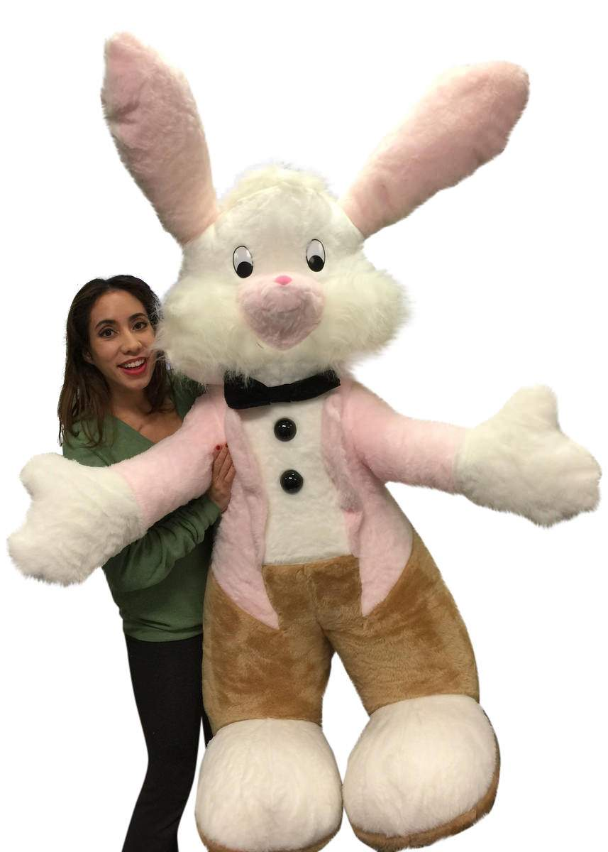 American Made Giant Stuffed Easter Bunny 65 Inches Big Plush Rabbit