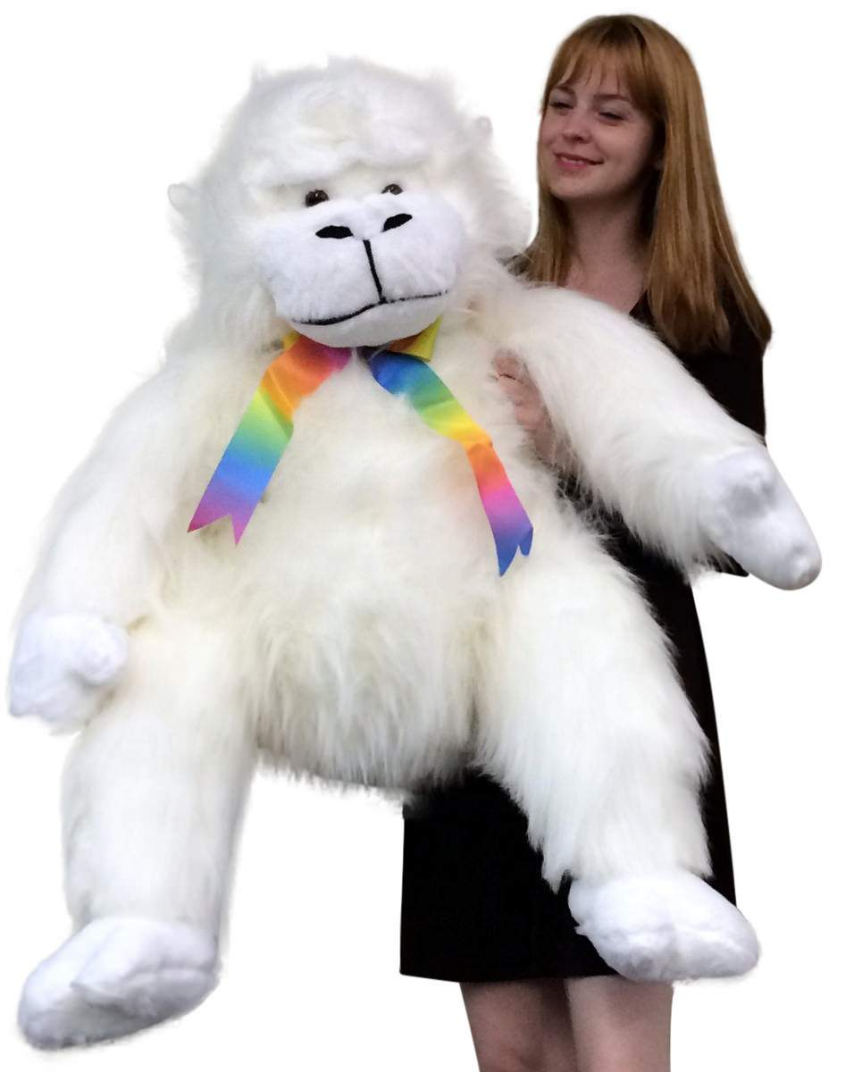American Made Giant Stuffed White Gorilla Monkey 40 Inch Soft Big