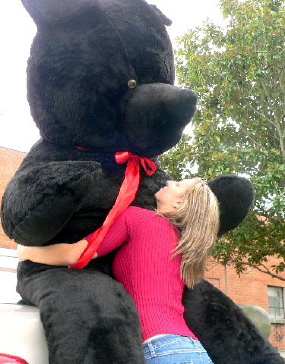 American Made Giant Black Teddy Bear 96 Inch Soft 8 Foot Stuffed