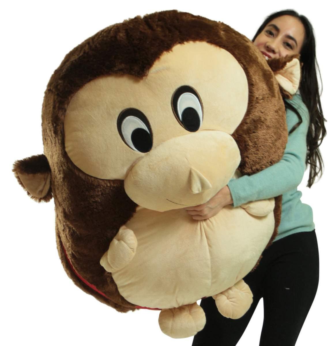 Big Plush Monkey Smush Ball Jumbo Size 3 Feet Tall 30 Inch Wide