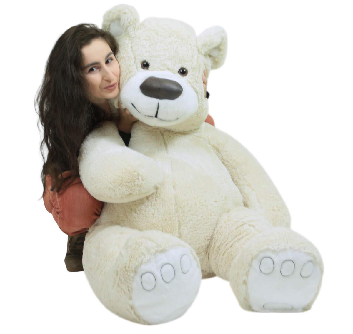 American Made Giant White Teddy Bear Soft 55 Inches Almost 5 Feet Tall