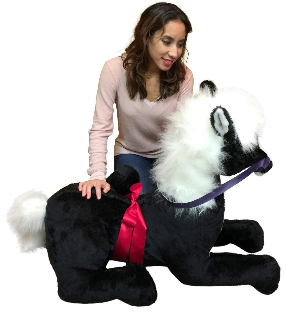 American Made Giant Stuffed Pony 4 Feet Wide 3 Feet Tall Soft Big