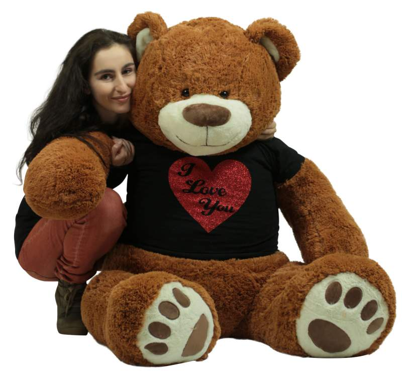 This 5 foot Valentine's Day Teddy Bear and hundreds more big plush Valentine Teddy Bears are all here for you to pick the perfect Valentine's Day gift.