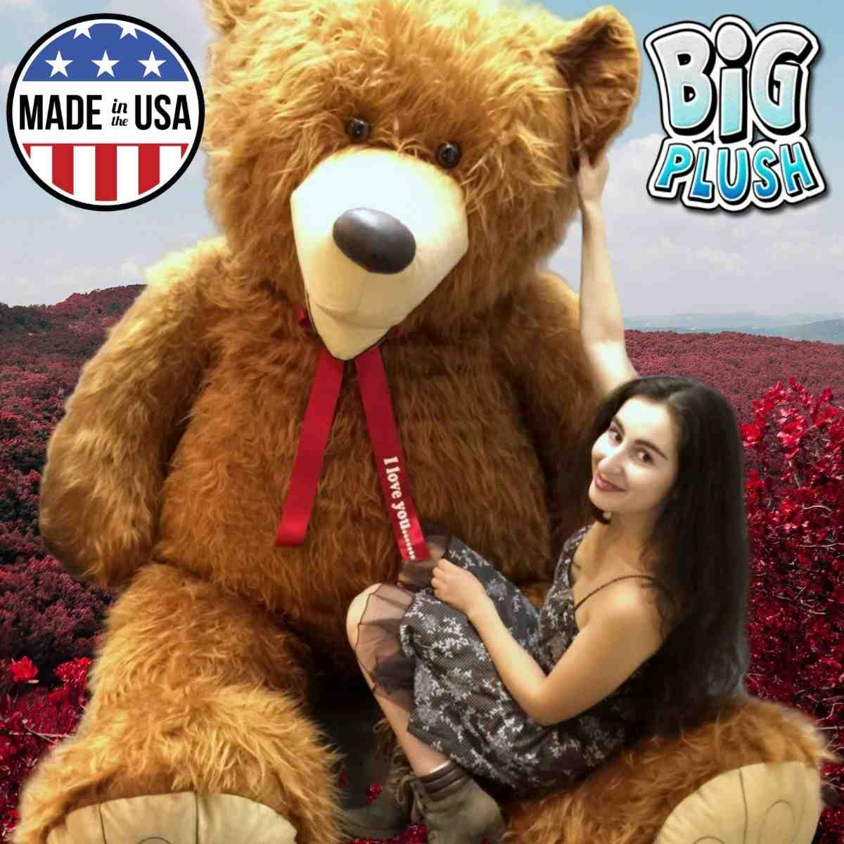 Choose from hundreds of the largest and softest giant teddy bears for Valentines Day at Big Plush