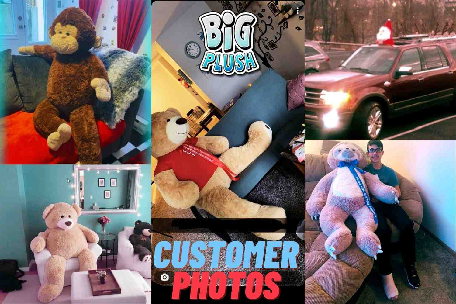 Big Plush Customer Reviews and Customer Photos showing Big Plush products in their life